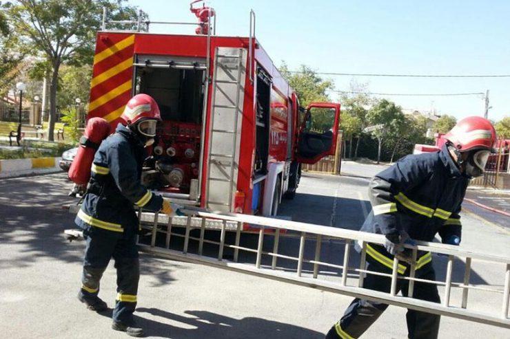 آتشسوزی سوله مونتاژ وسایل دندانپزشکی پردیس خاموش شد